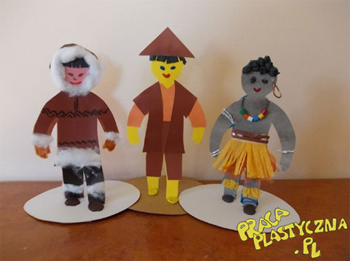 Dzieci z różnych stron świata - Prace plastyczne dla dzieci