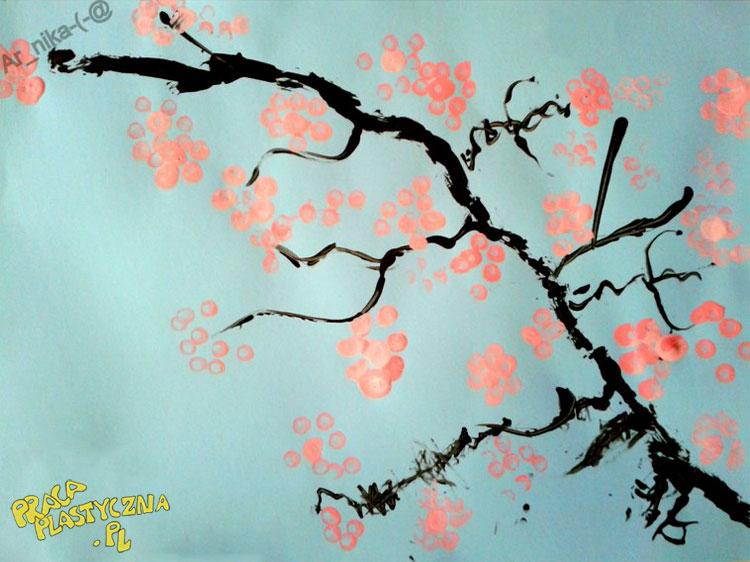 Wiązanka kwitnącej wiśni