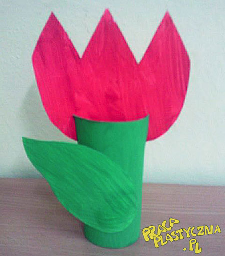 Tulipan - Prace plastyczne dla dzieci