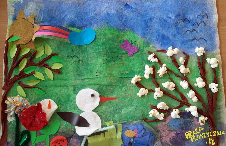Wiosenna łąka - Prace plastyczne dla dzieci