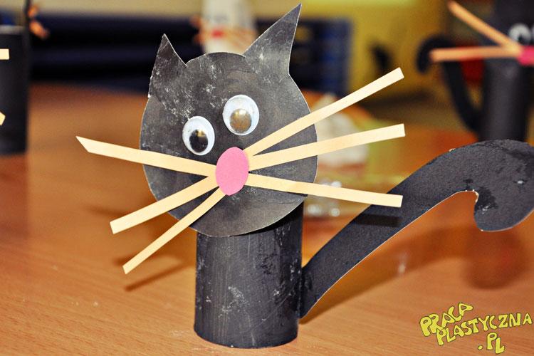 Kotek z rolki - Prace plastyczne dla dzieci